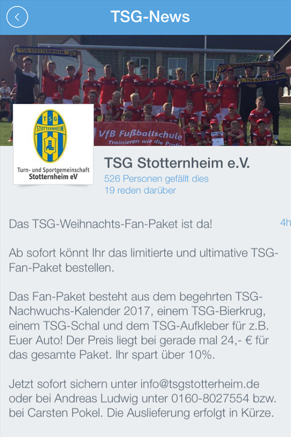 TSG Stotternheim- screenshot