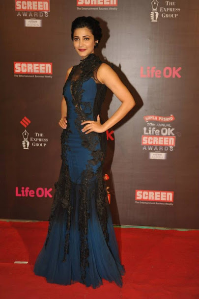 Shruti Hassan at Life OK Screen Awards 2013, Shruti Hassan sexy