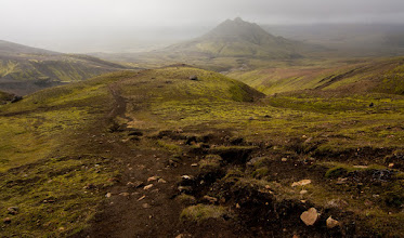 Photo: ... entering the oasis in the valley of Grashagakvisi river & Alftavatn lake ...