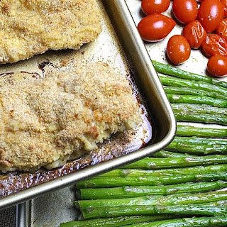 SHEET PAN PARMESAN CHICKEN with ASPARAGUS and TOMATOES Recipe