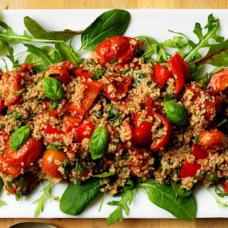 Roasted Tomato And Pepper Bulgar Wheat Salad.