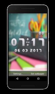 Teacher Clock Live Wallpaper - náhled