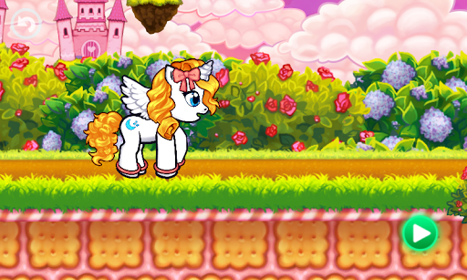 Run cute little pony race game