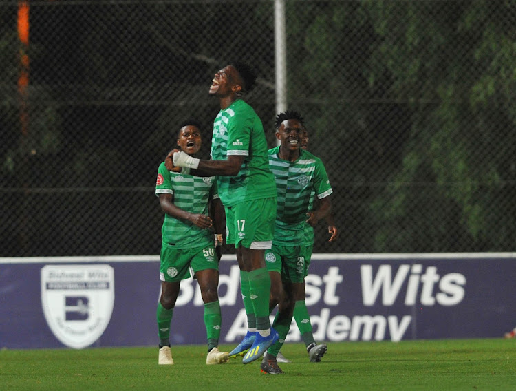 Tshegofatso Mabaso of Bloemfontein Celtic celebrates goal during the Absa Premiership match between Bidvest Wits and Bloemfontein Celtic on the 10 November 2018 at Bidvest Stadium.