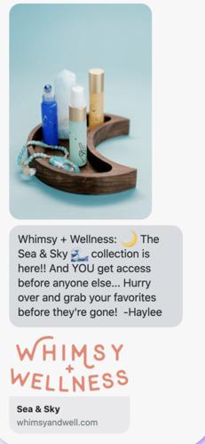Whimsey + Wellness: campagne de lancement de produit.