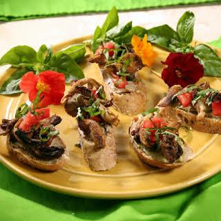 Smoked Oyster Mushroom Bruschetta.