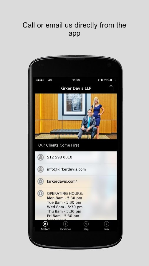 Kirker Davis LLP- screenshot