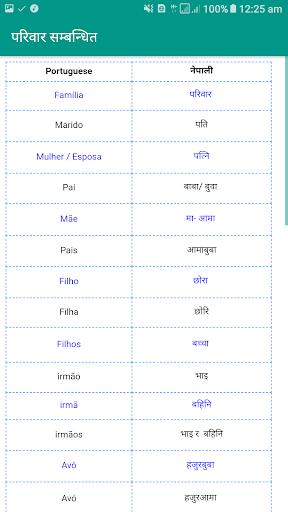 Learn Portuguese in Nepali screenshot 3