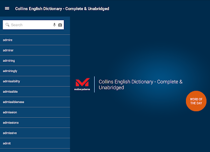 Collins English Dictionary Screenshot