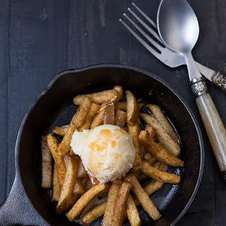 Baked Pear And Apple Fries.