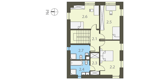Prostokątny - Rzut piętra