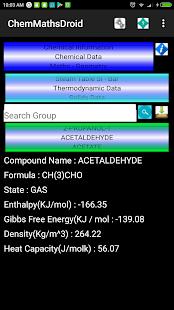 ChemMathsDroid Engineering,Chemical,Maths tools 9