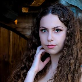 Carmen IV by Mark Ritter - People Portraits of Women ( lake oak meadows, model, wood, stone, womna, hour, golden, eyes )