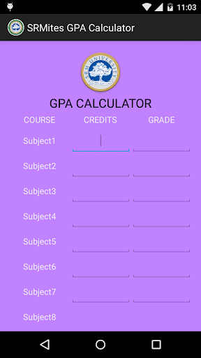 SRMites GPA Calculator