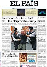 Photo: Ecuador desafía a Reino Unido y EE UU al otorgar asilo a Assange, el estado terminal del secuestrador de Ortega Lara allana su libertad y la subida fiscal encarece las pensiones en 3.000 millones, en nuestra portada del viernes 17 de agosto http://cort.as/2M5f