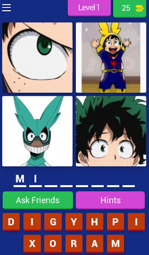 4 Pics Hero Academia Quiz 7.9.3z screenshots 17