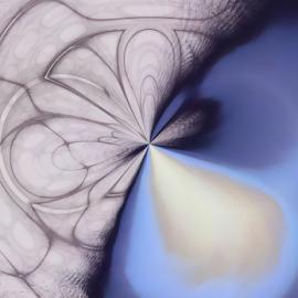 Blue Curve by Jennifer van Niekerk - Illustration Abstract & Patterns ( abstract, curve, blue, swirl, contemporary, art, digital art, geometrical, digital, design )