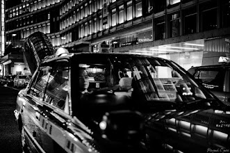 Photo: TAXI  Tokyo Street Shooting Location; #Shinjuku , #Tokyo , #Japan   #photo #photography #streetphotography #streettogs  #leica #leicammonochrom