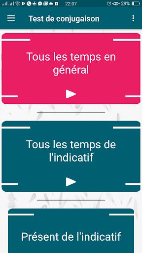 jeu de conjugaison: exercice de conjugaison verbe  captures d'u00e9cran 1