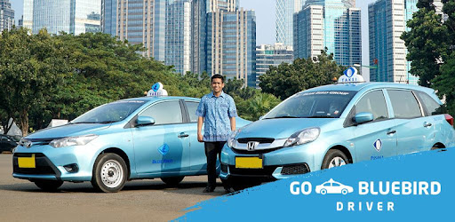 Blue Bird driver app to take orders ordered through the Gojek application