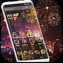 Neon Light Theme - Fire Flowers Theme 2018 icon