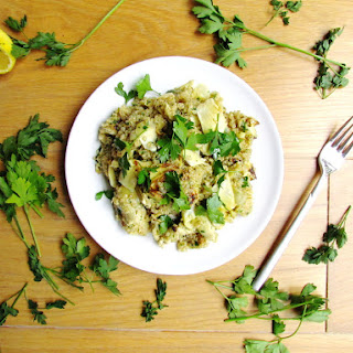 Quinoa With Pan-roasted Artichokes, Lemon And Parsley