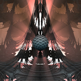 Influenced by Light by Ricky Jarnagin - Illustration Abstract & Patterns ( mandelbulb 3d, abstract art, fractal, abstract, fractals )