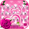 Pink Roses Hearts Keyboard Theme icon