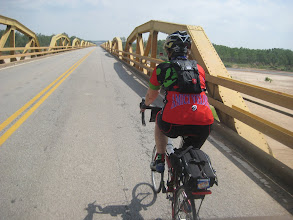 Photo: Susan crossing the South Canadian River