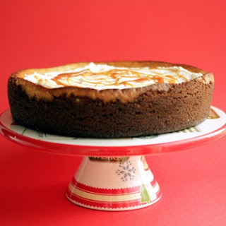 Egg Nog Cheesecake with Ginger Snap Crust