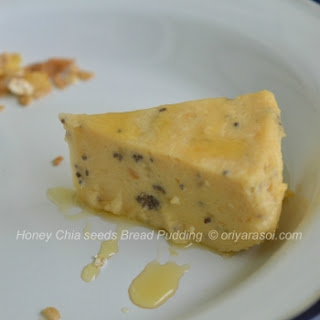Honey - Chia Seeds Bread Pudding.