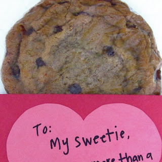 Giant Valentine Chocolate Chip Cookie