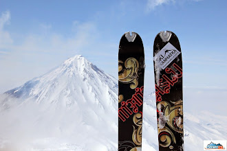Photo: Skis Dynafit Manaslu on the summit of Avachinsky
