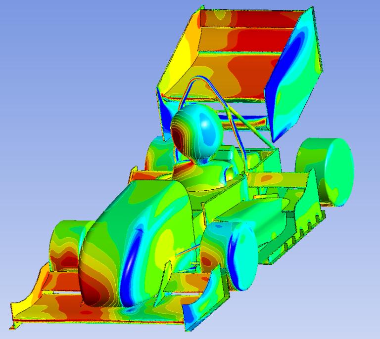 ANSYS Моделирование внешнего обтекания автомобиля