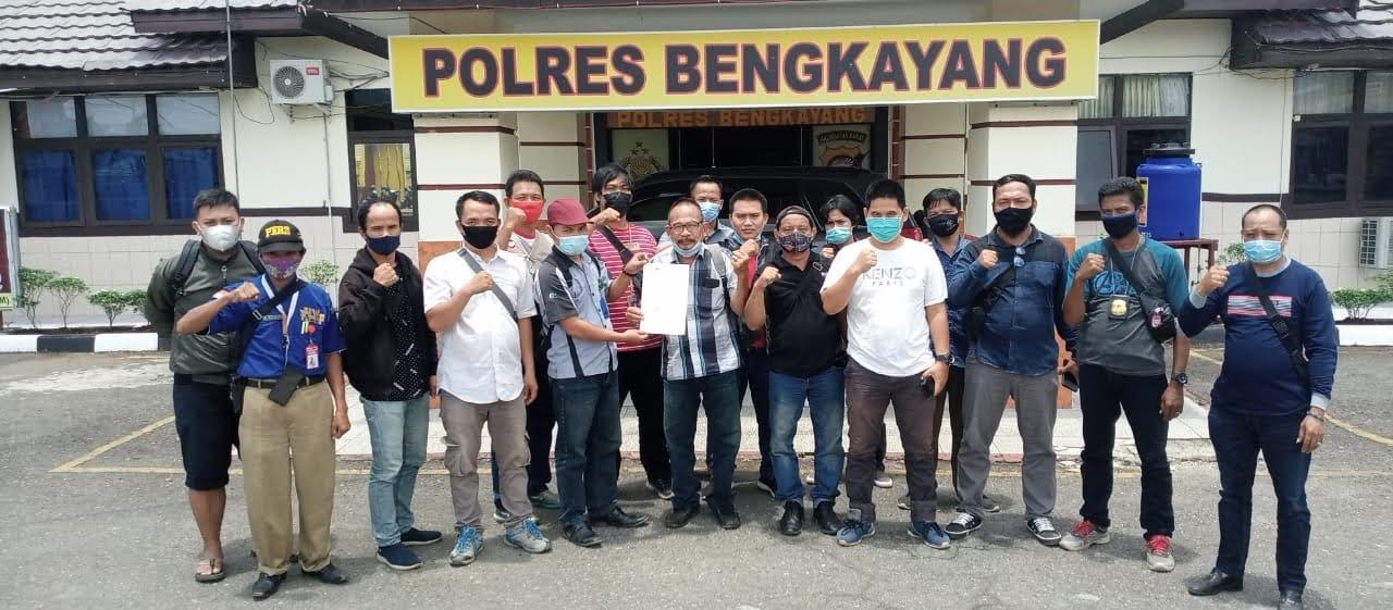 Awak Media di Kabupaten Bengkayang Mendatangi Mapolres Bengkayang Guna mengadukan Ujaran Kebencian Terhadap Wartawan