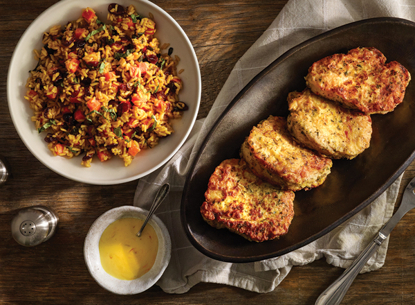 Creamy Marinated Pork Chops with Vegetable Yellow Rice Recipe