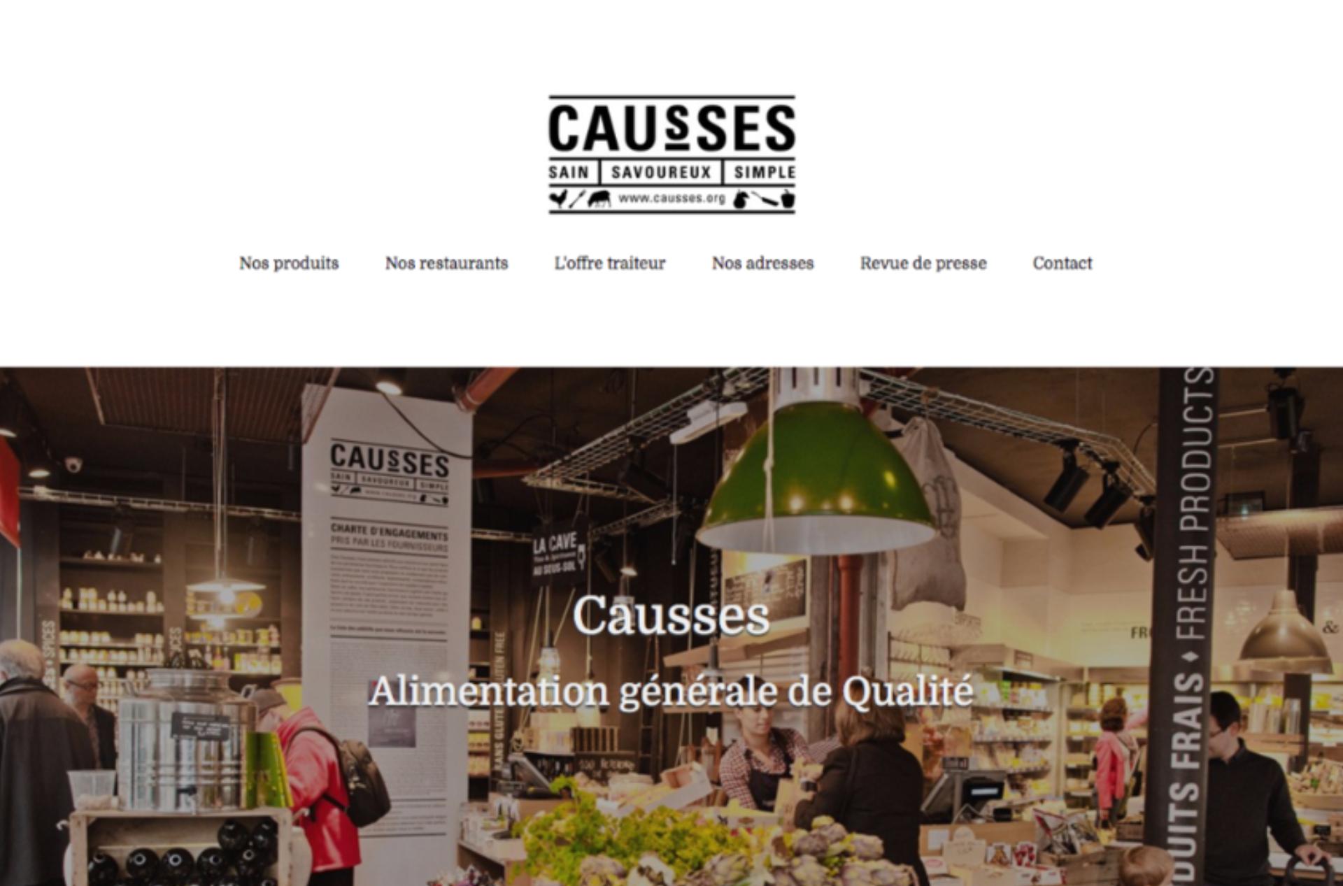 création de site internet par Causses
