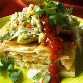 Seafood Enchilada Casserole.