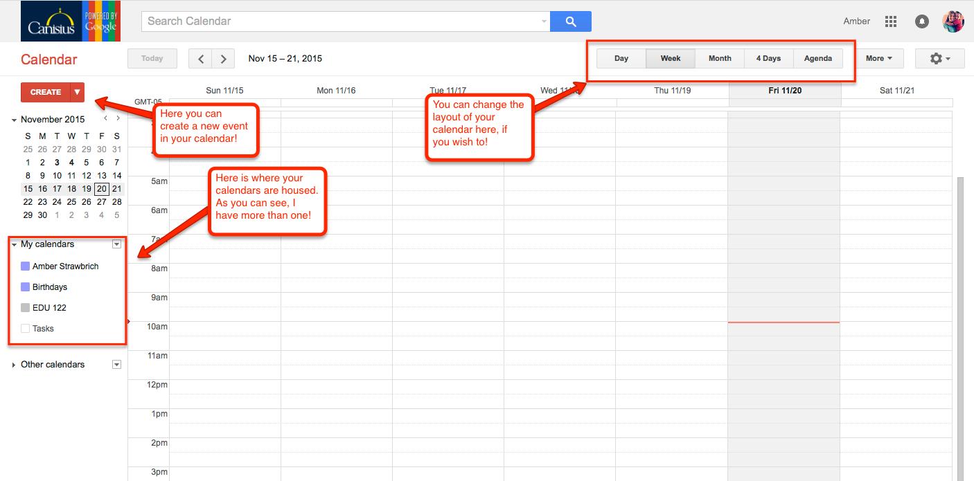 Creating A Google Calendar Center For Online Learning Innovation