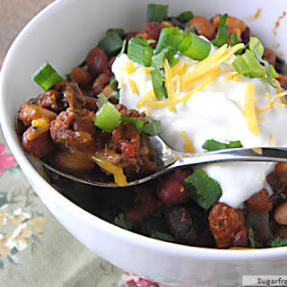 Lightened Up Crock Pot Three Bean Turkey Chili