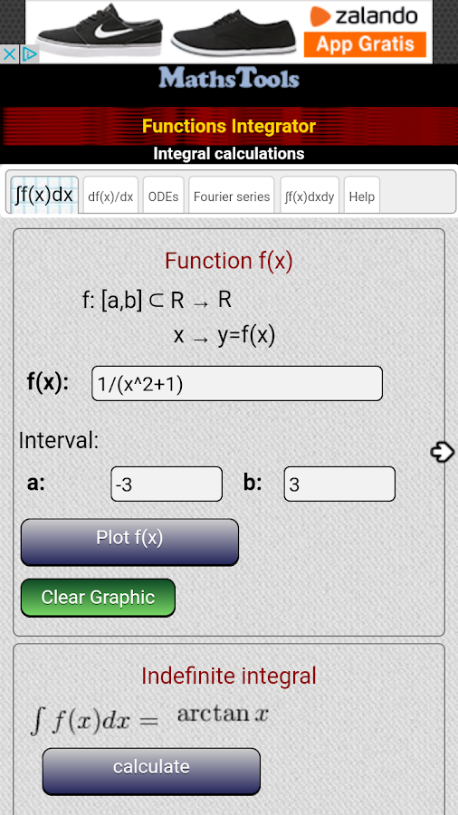 Integral calculator- screenshot