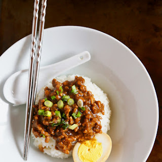 Braised Ground Pork Over Rice (lu Rou Fan) - 4 To 6 Servings