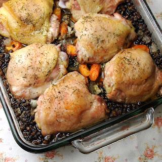 Chicken with Lentils [Poulet Aux Lentilles] Recipe