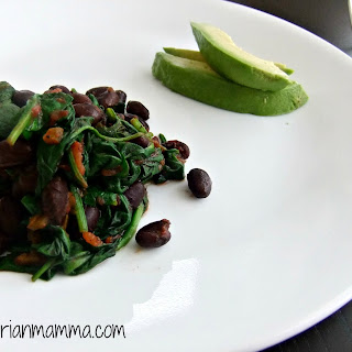 Easy Spinach and Black Bean Skillet – #glutenfree #vegan