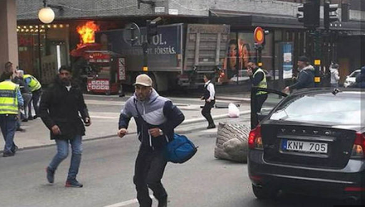 Graphic images of terror in Stockholm