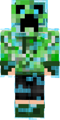 My Charged Creeper Human Oc with mask on.