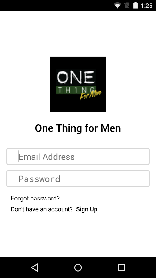 One Thing for Men- screenshot