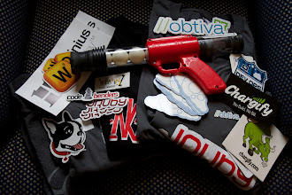 Photo: Some of the free schwag