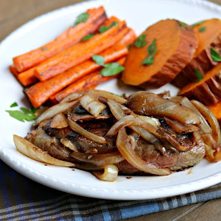 Ranch Steak with Mushrooms & Onions.