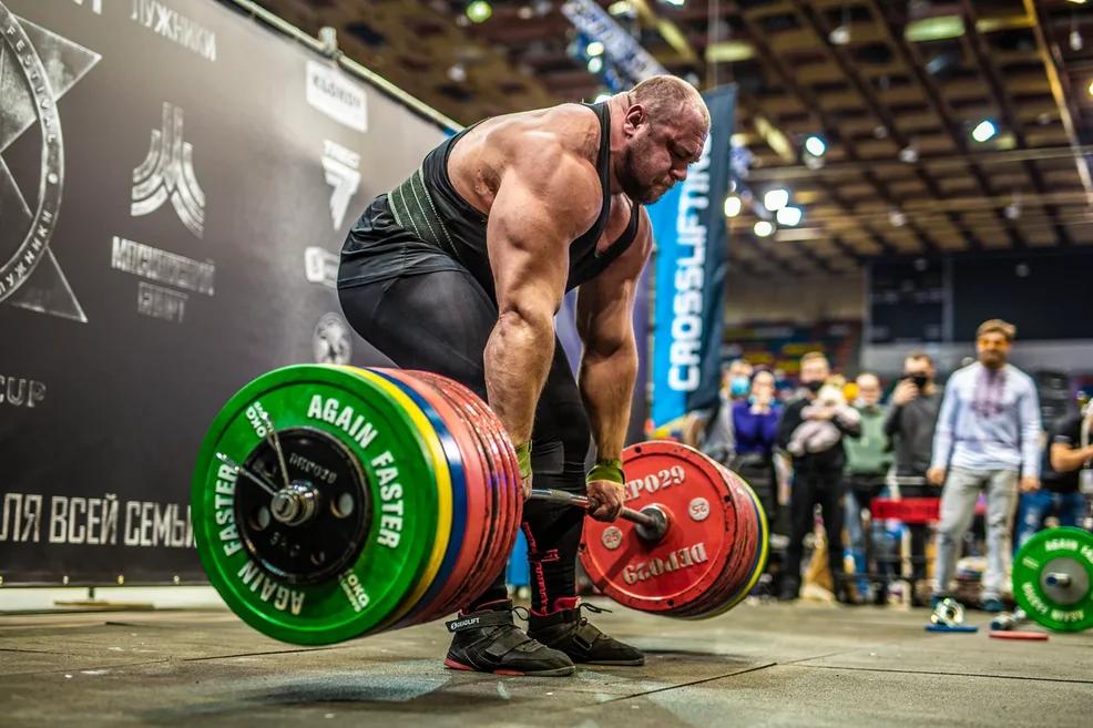 Тягя штанги 400 кг Ивана Макарова